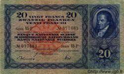 20 Francs SUISSE  1942 P.39l TTB