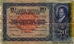 20 Francs SUISSE  1944 P.39m TB+