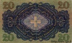 20 Francs SUISSE  1944 P.39n TB+