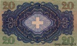 20 Francs SUISSE  1944 P.39n SPL