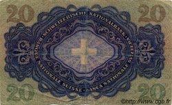 20 Francs SUISSE  1946 P.39o TB