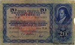 20 Francs SUISSE  1947 P.39p B