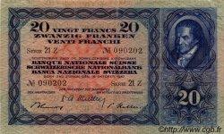 20 Francs SUISSE  1947 P.39p TTB