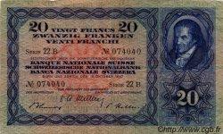 20 Francs SUISSE  1947 P.39p pr.TTB