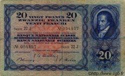 20 Francs SUISSE  1947 P.39p TB
