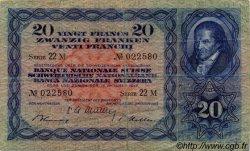 20 Francs SUISSE  1947 P.39p TB+