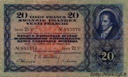 20 Francs SUISSE  1949 P.39q TTB