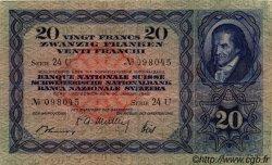 20 Francs SUISSE  1949 P.39q TB+