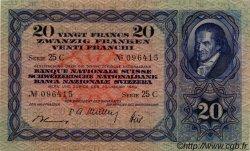 20 Francs SUISSE  1949 P.39q SUP