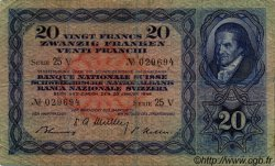 20 Francs SUISSE  1949 P.39q TB