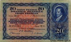 20 Francs SUISSE  1950 P.39r TB+