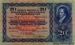 20 Francs SUISSE  1950 P.39r TTB