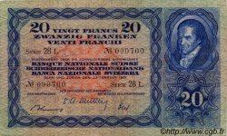 20 Francs SUISSE  1951 P.39s TTB