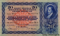 20 Francs SUISSE  1952 P.39t pr.SUP