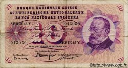 10 Francs SUISSE  1965 P.45j var. TB