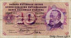 10 Francs SUISSE  1967 P.45l TB
