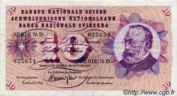 10 Francs SUISSE  1972 P.45q TTB
