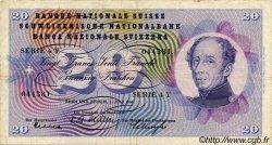20 Francs SUISSE  1954 P.46a TTB