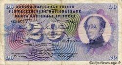 20 Francs SUISSE  1955 P.46b pr.TB