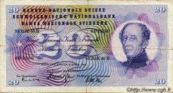 20 Francs SUISSE  1964 P.46k TB