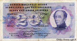 20 Francs SUISSE  1965 P.46l pr.TTB