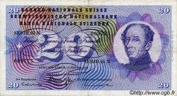 20 Francs SUISSE  1969 P.46q TTB