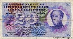 20 Francs SUISSE  1971 P.46s TB