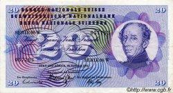 20 Francs SUISSE  1972 P.46t TTB+
