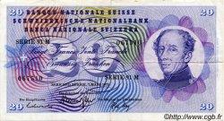 20 Francs SUISSE  1973 P.46u TTB