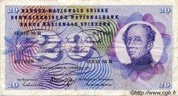 20 Francs SUISSE  1974 P.46v TB+