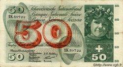 50 Francs SUISSE  1955 P.47a TTB