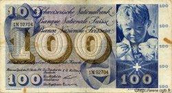 100 Francs SUISSE  1956 P.49a TB+