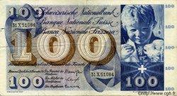 100 Francs SUISSE  1961 P.49d TTB