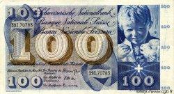 100 Francs SUISSE  1963 P.49e TTB