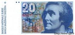 20 Francs SUISSE  1982 P.54d NEUF