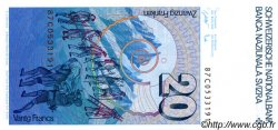 20 Francs SUISSE  1987 P.54g NEUF