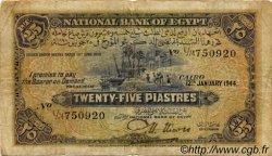 25 Piastres ÉGYPTE  1944 P.010c B+