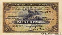 25 Piastres ÉGYPTE  1946 P.010d TTB