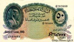 50 Piastres ÉGYPTE  1940 P.021a SPL