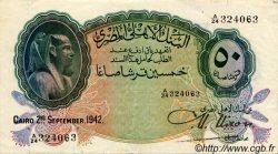 50 Piastres ÉGYPTE  1942 P.021b TTB+