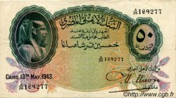 50 Piastres ÉGYPTE  1943 P.021b TTB+