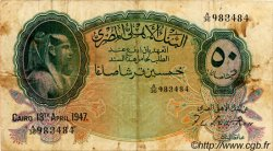 50 Piastres ÉGYPTE  1947 P.021d TB