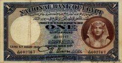 1 Pound ÉGYPTE  1942 P.022c TB à TTB