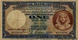 1 Pound ÉGYPTE  1943 P.022c B+