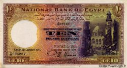 10 Pounds ÉGYPTE  1945 P.023b SUP