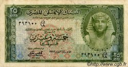 25 Piastres ÉGYPTE  1955 P.028a TB