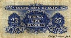 25 Piastres ÉGYPTE  1963 P.035a TB+