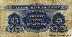 25 Piastres ÉGYPTE  1963 P.035 B
