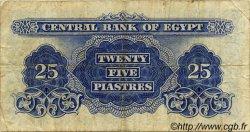 25 Piastres ÉGYPTE  1963 P.035a TB