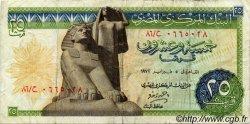 25 Piastres ÉGYPTE  1972 P.042 TB